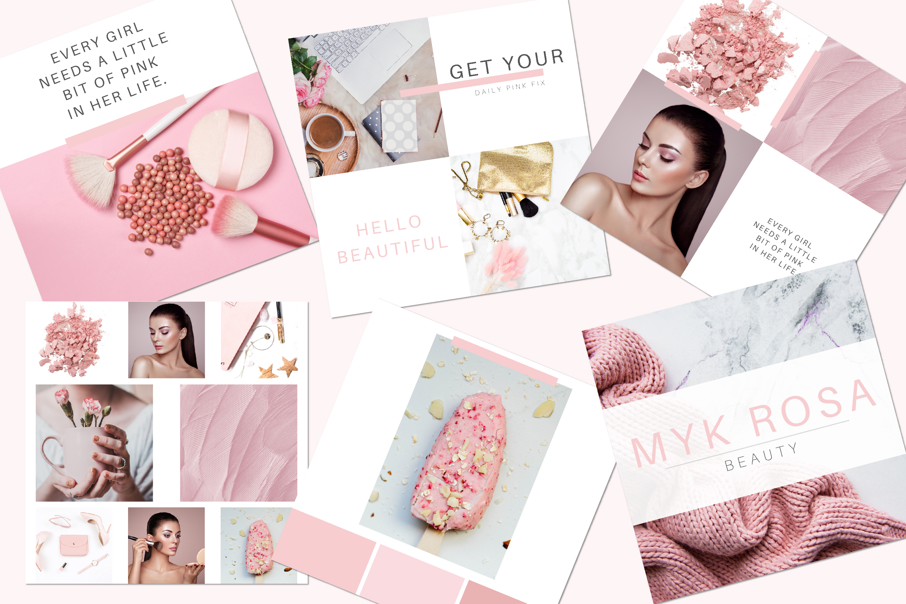 Instagram Posts Canva Template - Myk Rosa example image 2