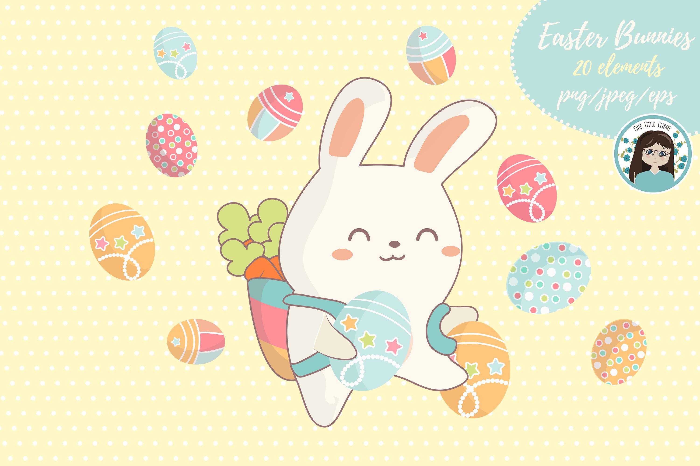 Cute kawaii bunnies example image 3