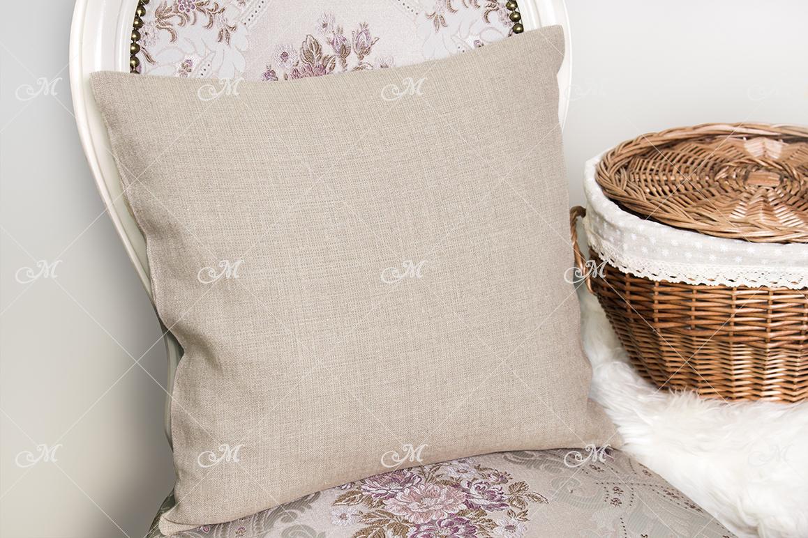 Canvas Cushion Mock-up. PSD+JPG example image 3