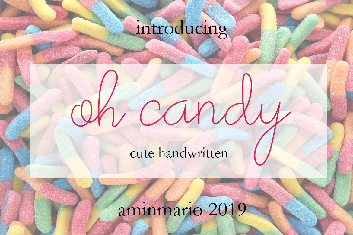 Oh Candy | Cute Handwaritten example image 7