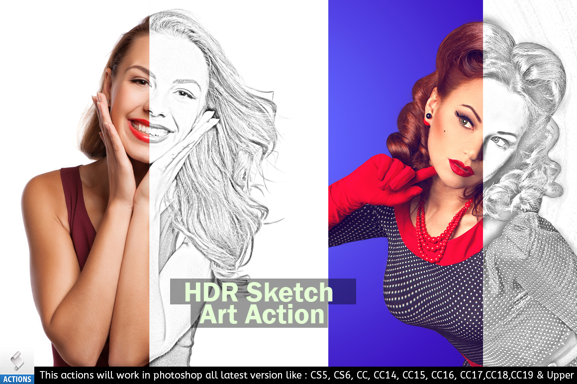 Photoshop Sketch Art Action example image 4