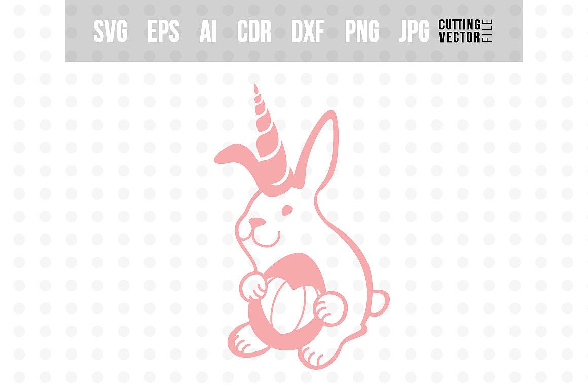 Unicorn Bunny - Easter SVG example image 1