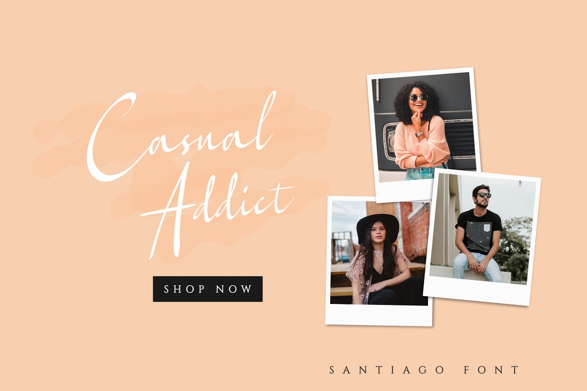 Santiago - Elegant Font example image 4