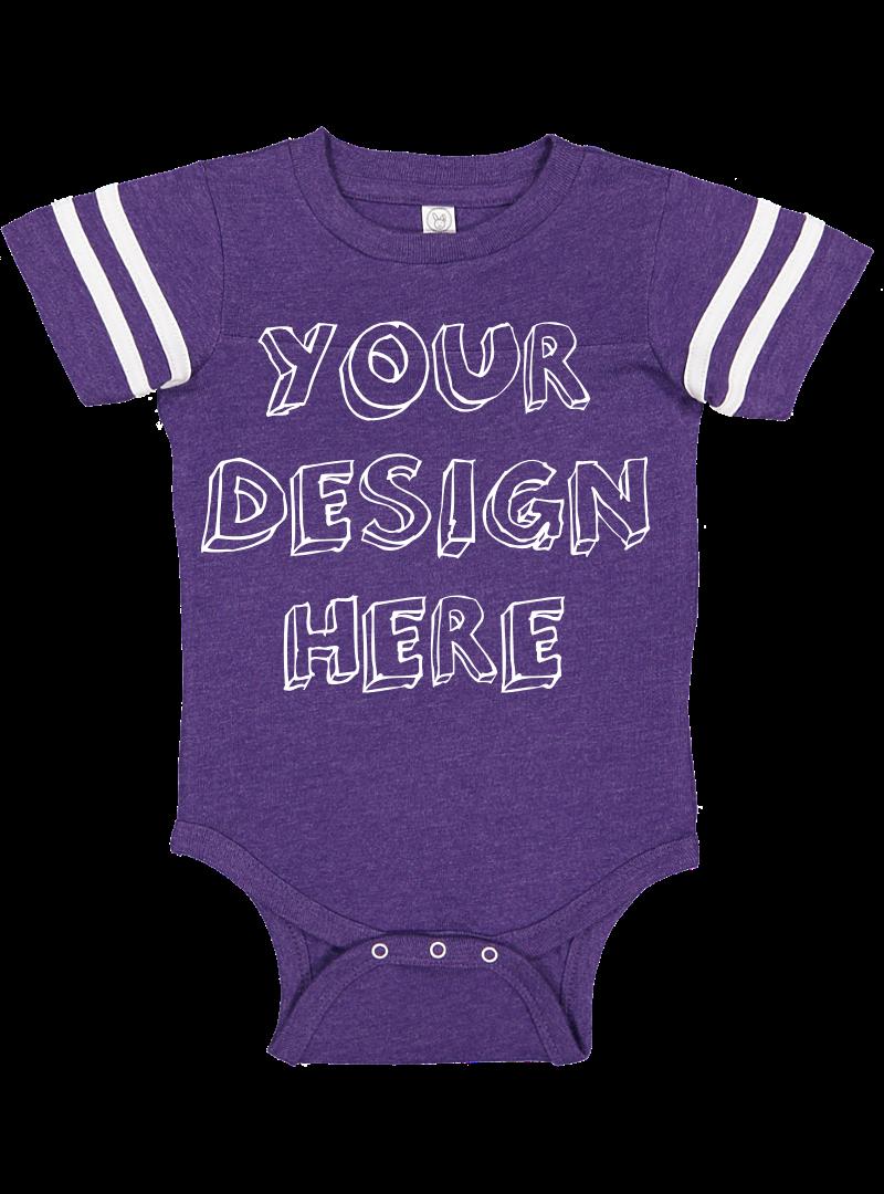 Infant Football Bodysuit Mockups - 12 |PNG|Front/Back - V2 example image 4