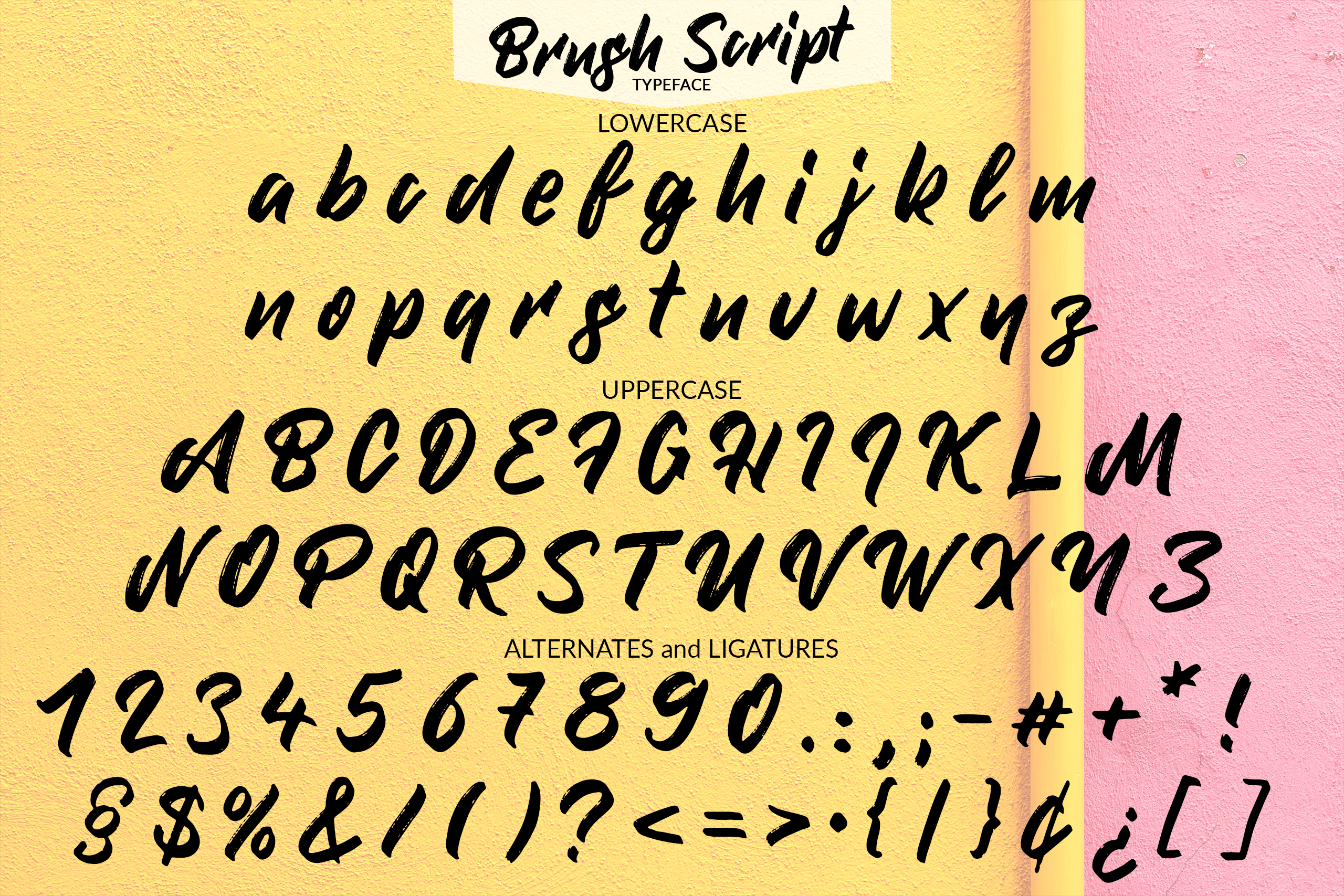 Brush Script - Handmade font example image 2