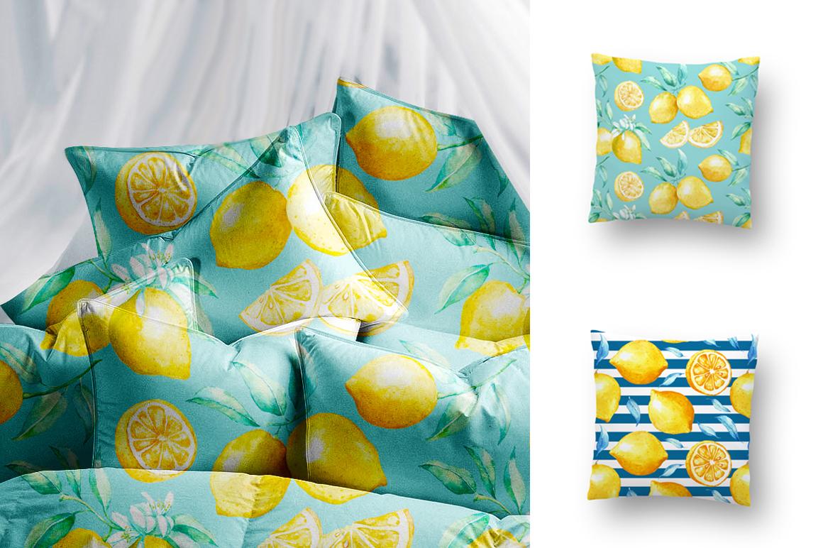 Watercolor lemon set example image 7
