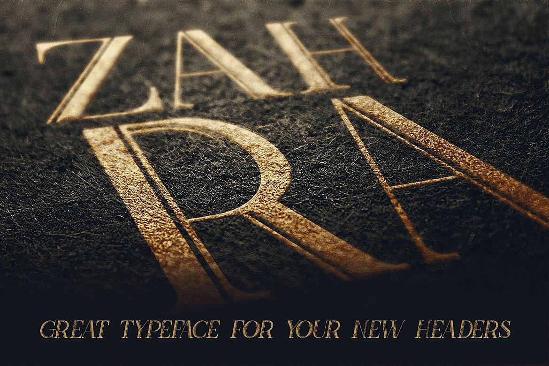 Zahra Typeface example image 5