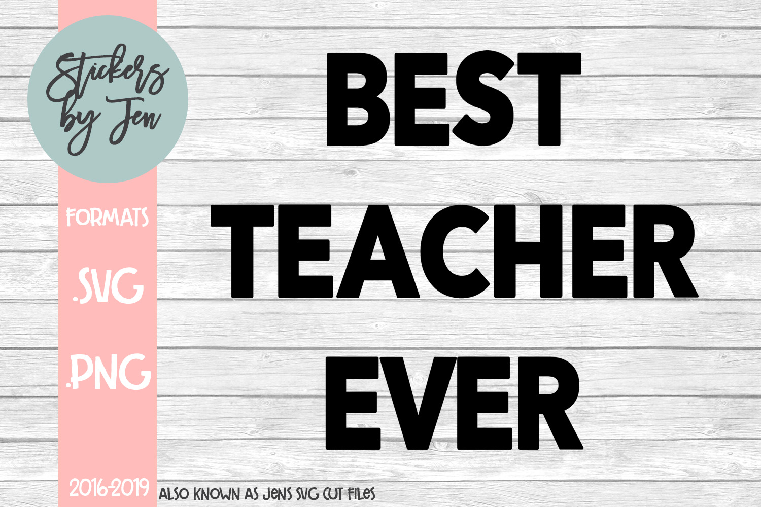 Best Teacher Ever SVG Cut File example image 1