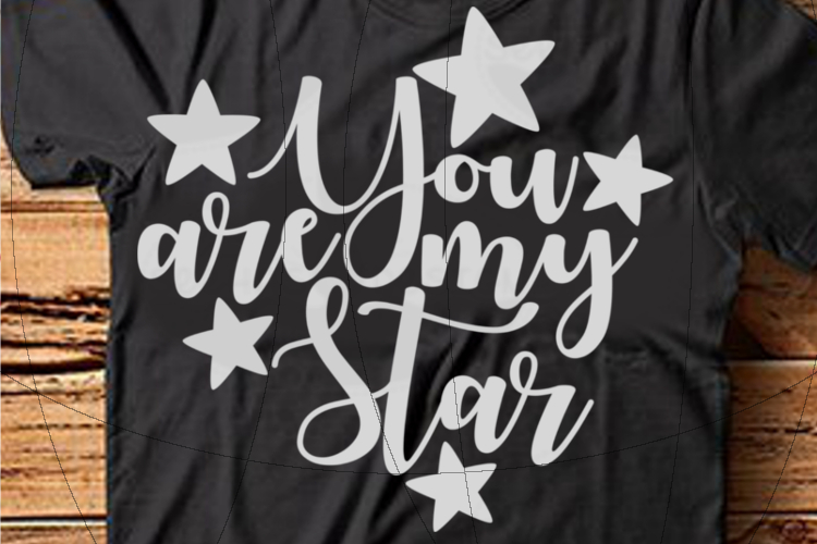 File You are my Star for Cutting Lasercut Print SVG PDF EPS example image 1