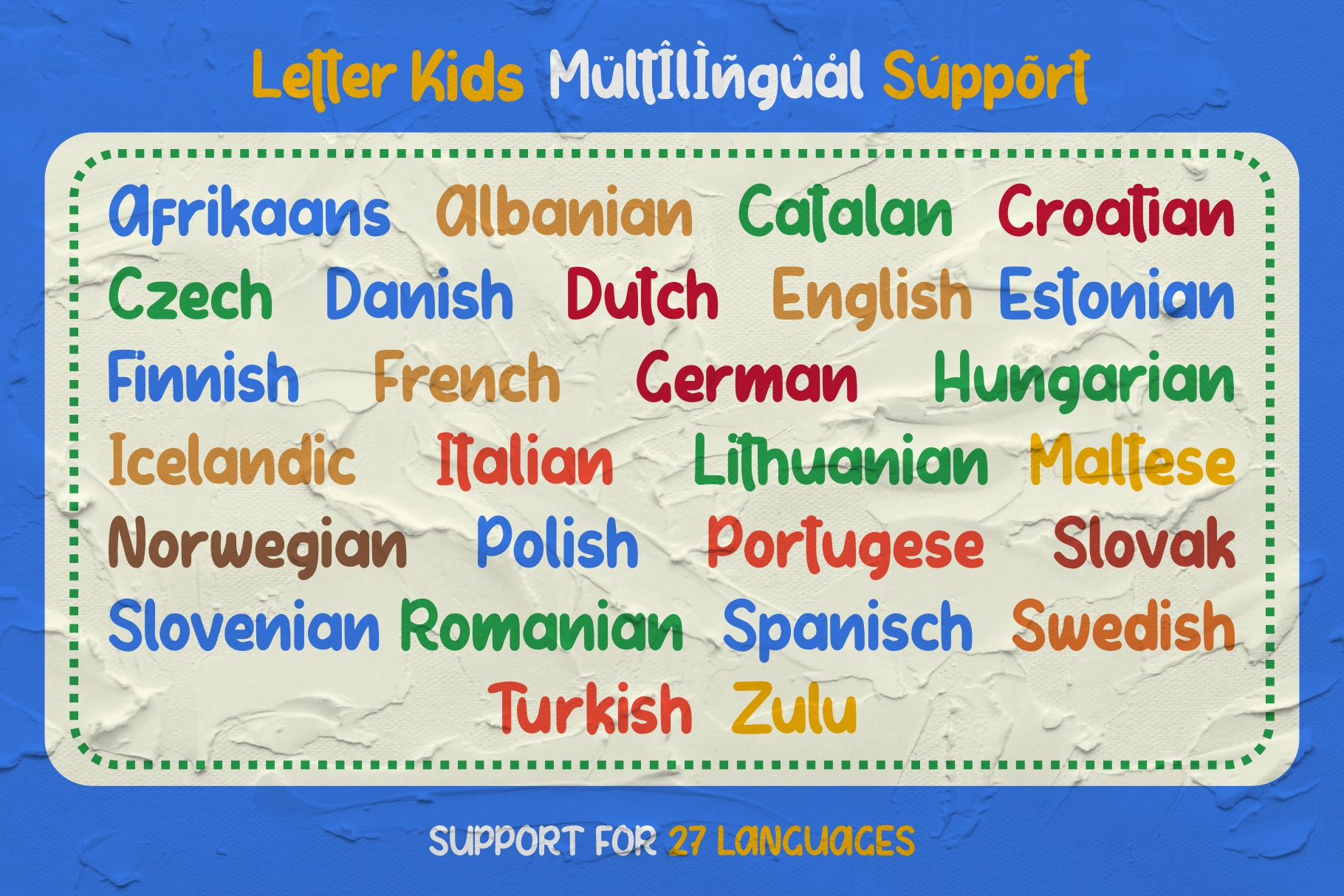 LETTER KIDS Display Fonts example image 8