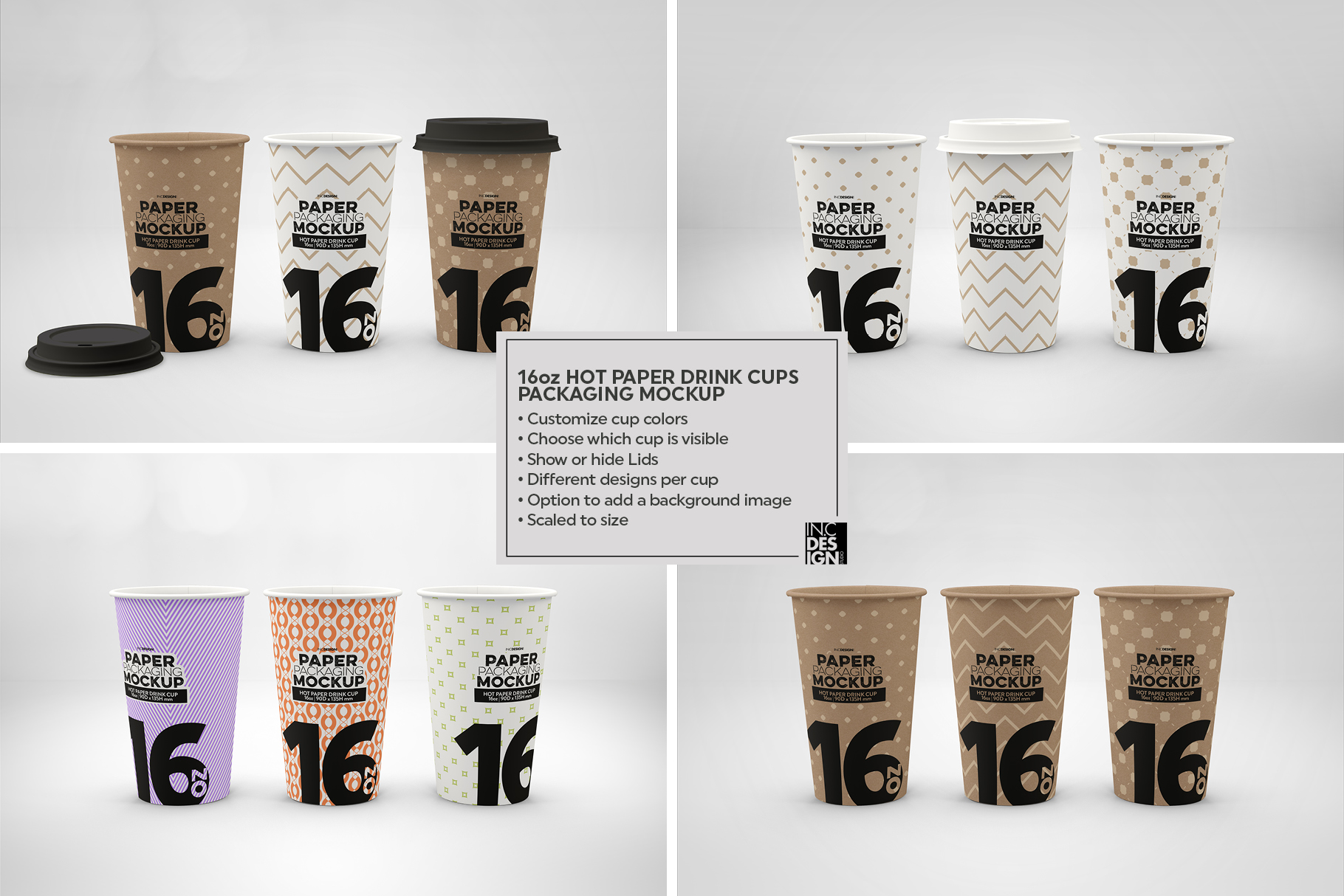 Paper Hot Drink Cups Packaging Mockup example image 12