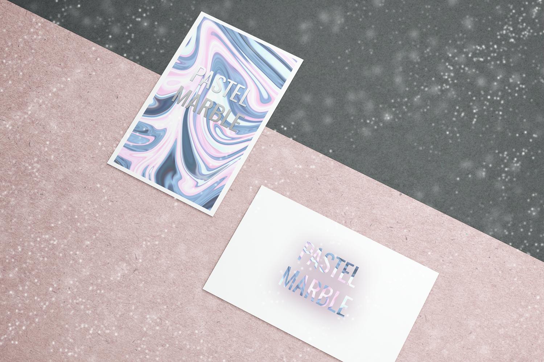 Pastel Marble Digital Paper, Scrapbooking, Textures example image 3