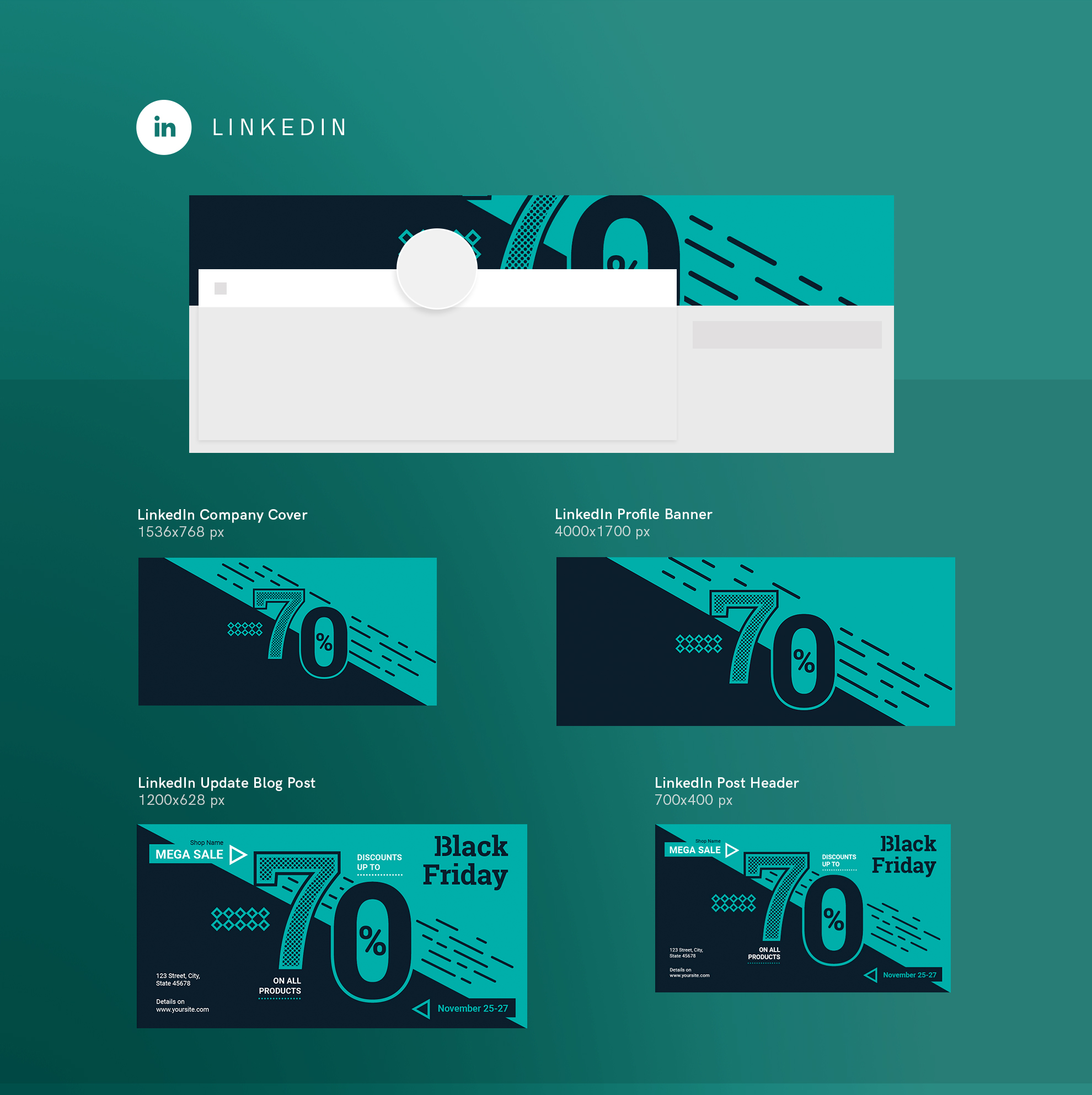 Black Friday Sale Design Templates Bundle example image 12