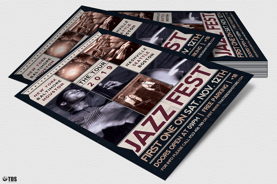 Jazz Fest Flyer Template example image 4