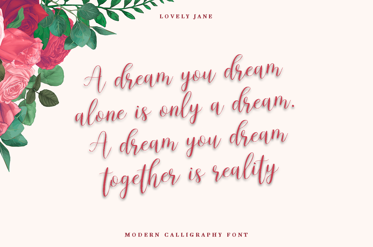 lovely Jane - Modern calligraphy font example image 2