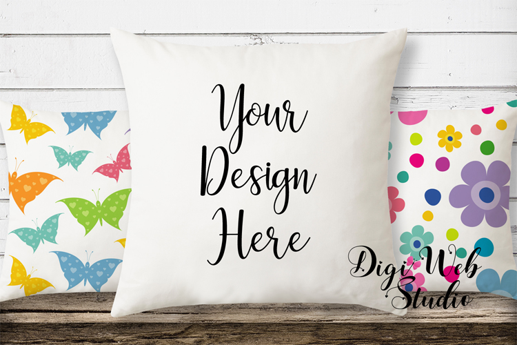 Mockup Bundle - Butterfly Cottage Wood Signs, Pillow & Mug example image 2