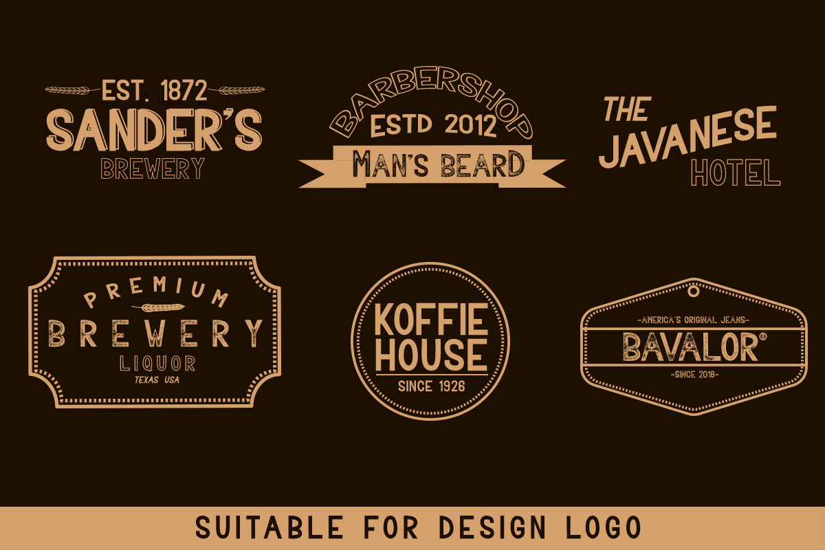 BAVALOR - ALL CAPS FONT FAMILY WITH EXTRAS example image 5