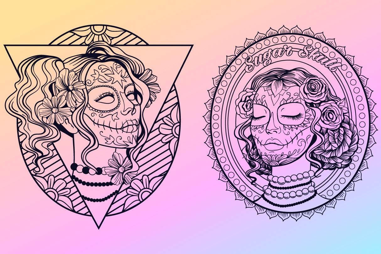 Sugar Skull SVG Collection | Calavera Ladies SVG example image 2