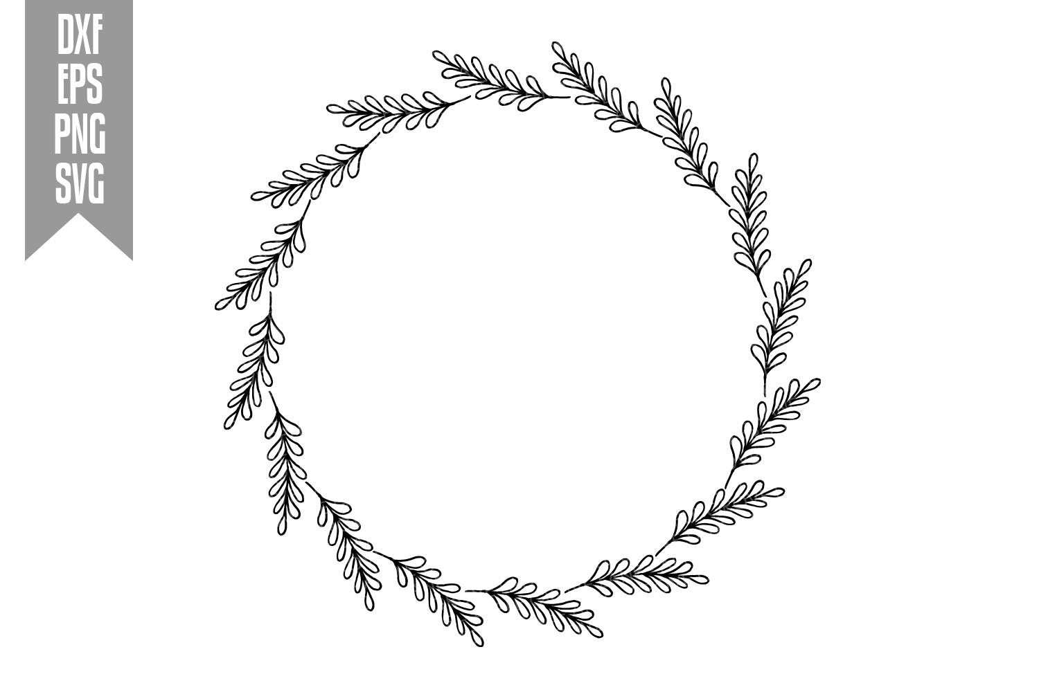 Wreath Svg Bundle - 6 designs included - Svg Cut Files example image 10