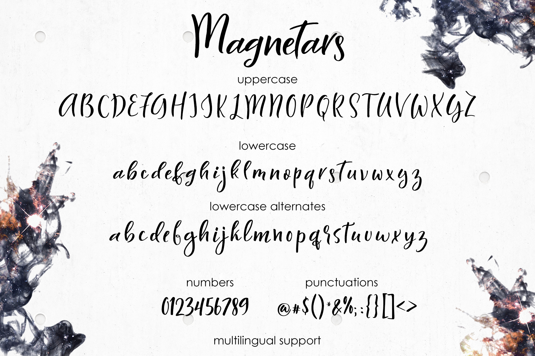 Magnetars - space font example image 6