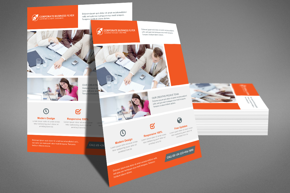 Clean Corporate Business Flyer example image 3