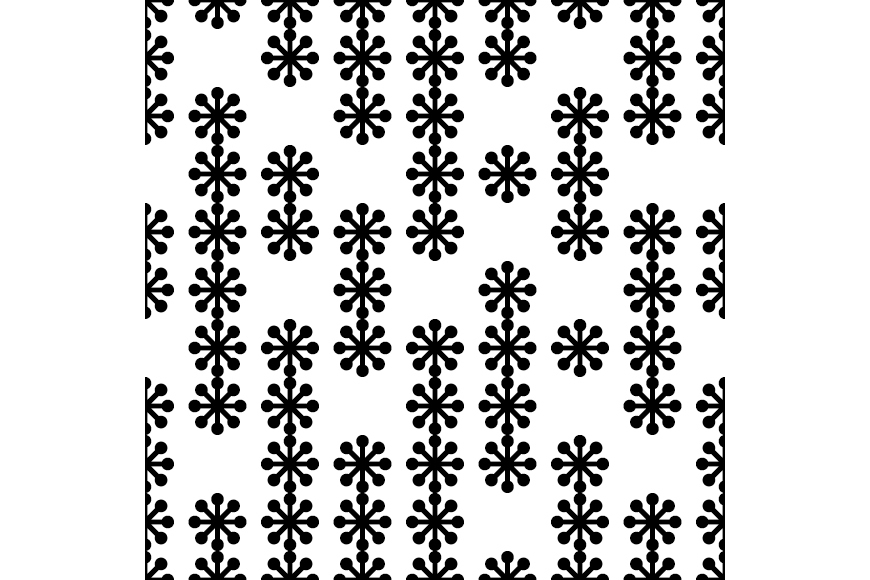Set of 12 seamless backgrounds with decorative snowflakes.  example image 3