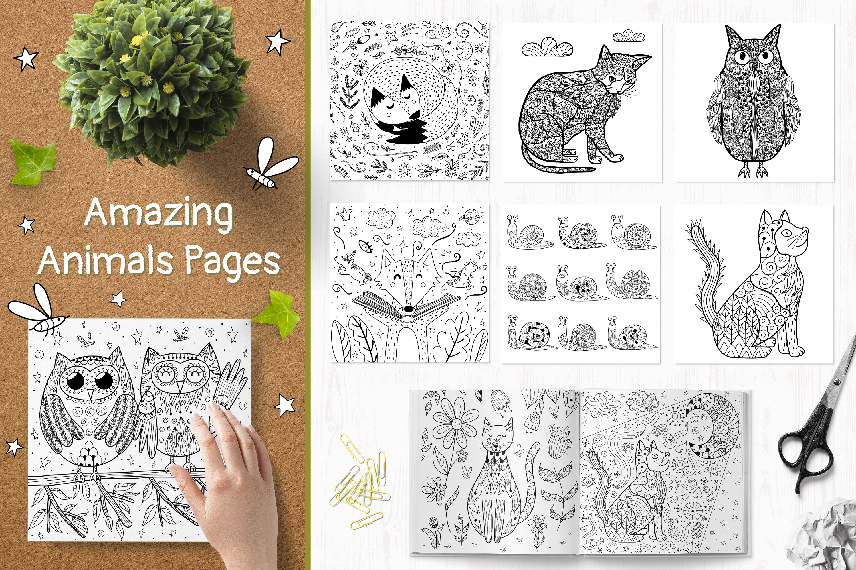 70 Coloring Pages Amazing Animals example image 13