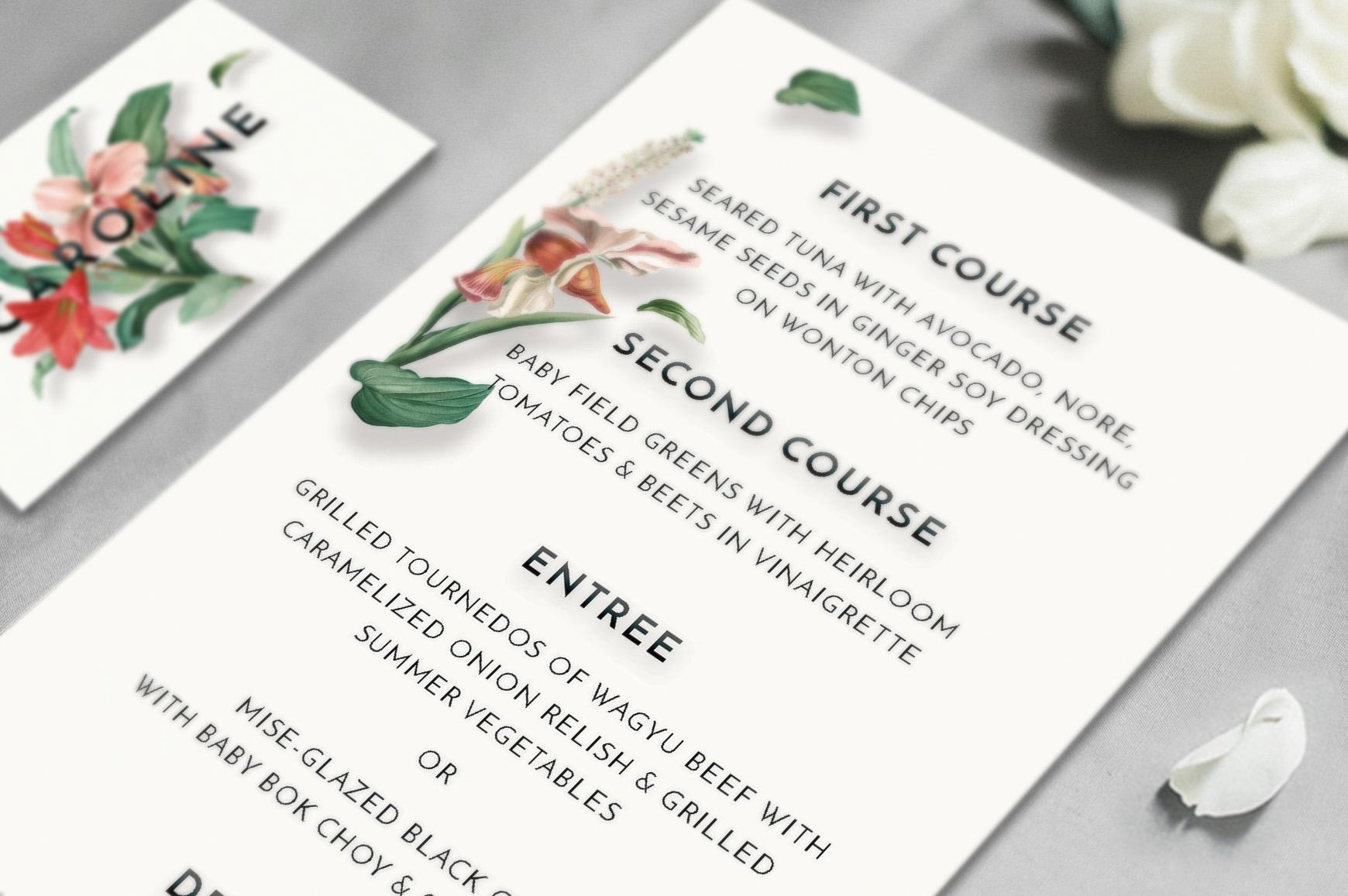 Modern Vintage Floral Wedding Invitation Suite example image 4