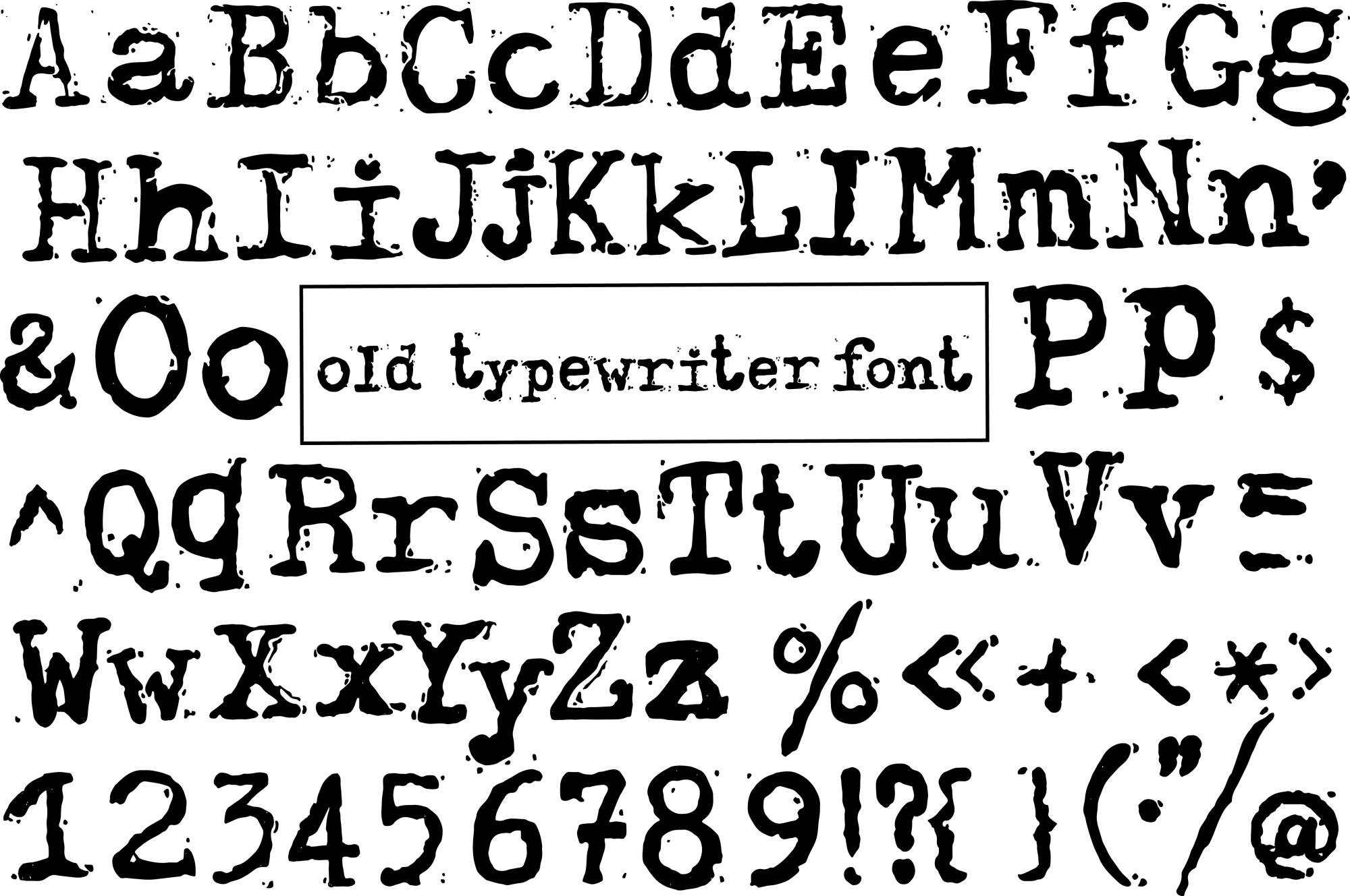Old typewriter font example image 3