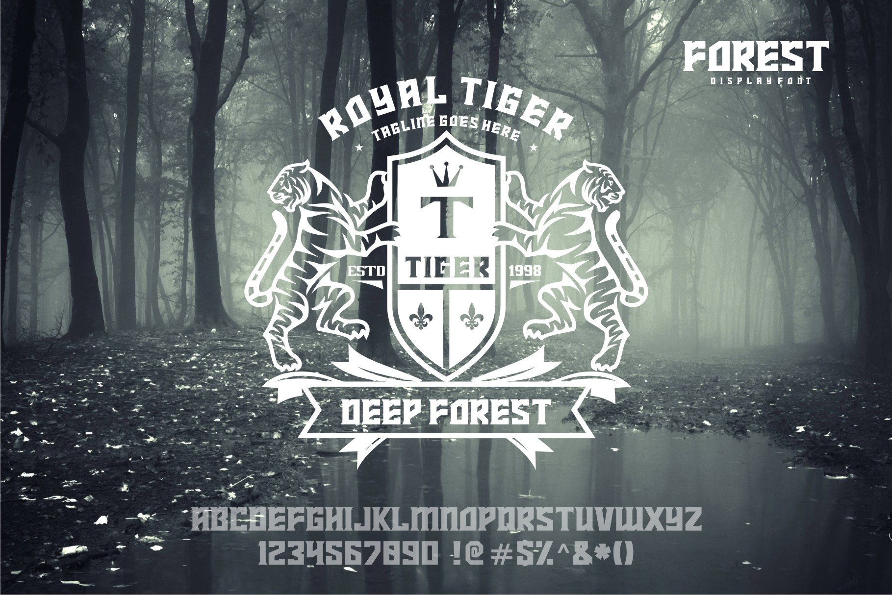 FOREST display font example image 4
