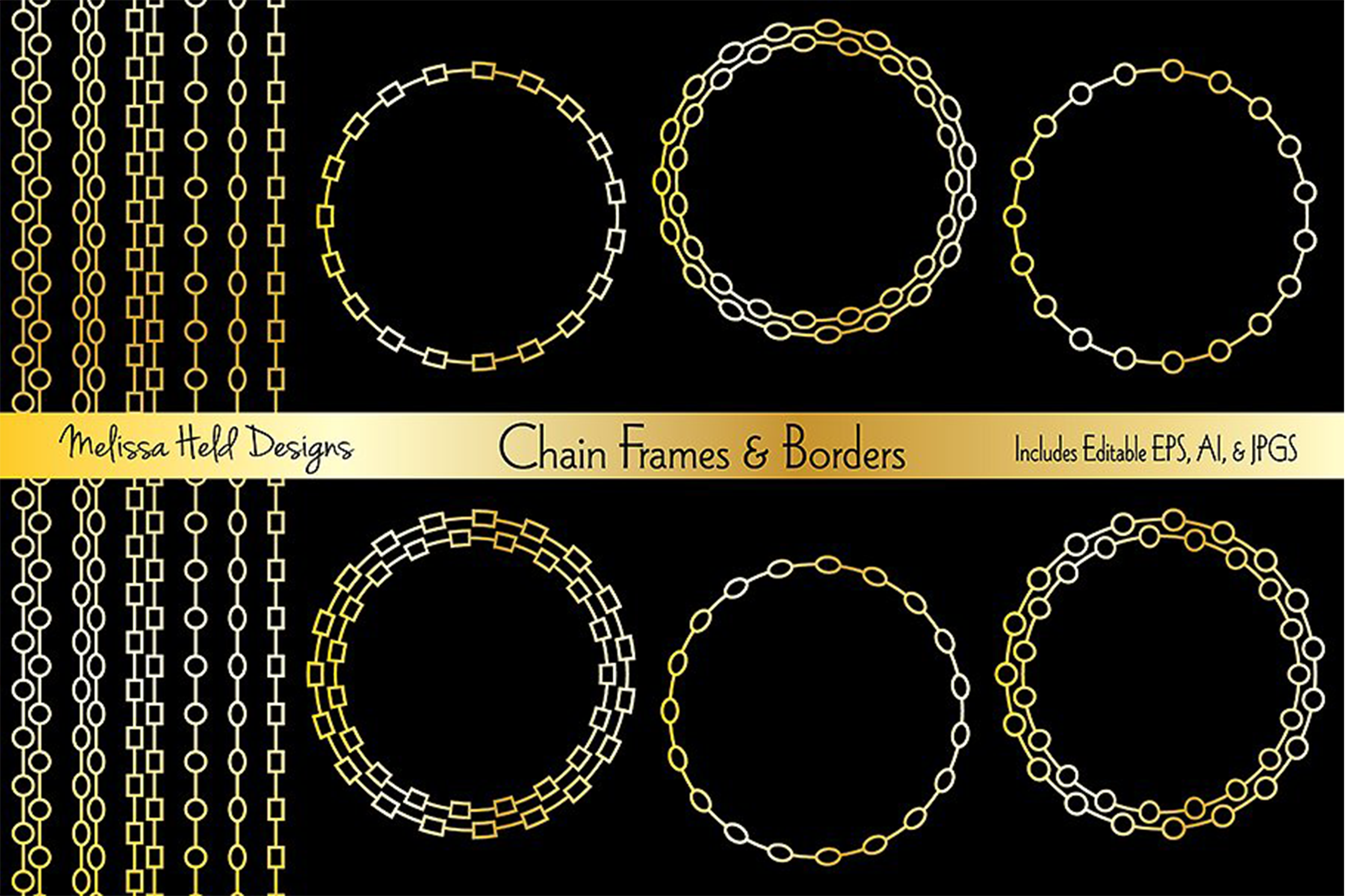 Chain Frames & Borders example image 1