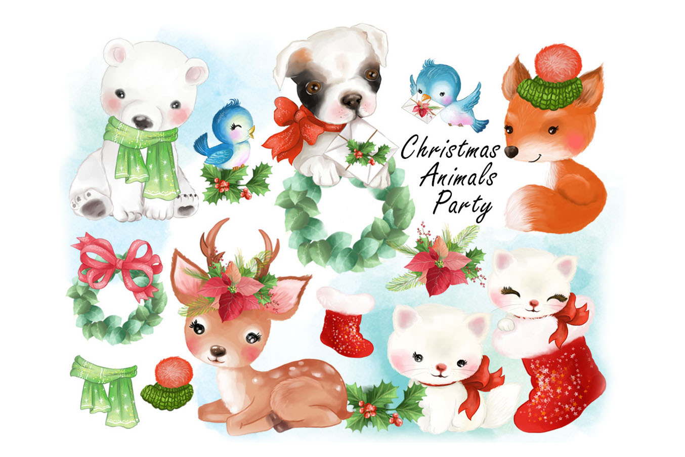 Christmas Animals Party clipat.