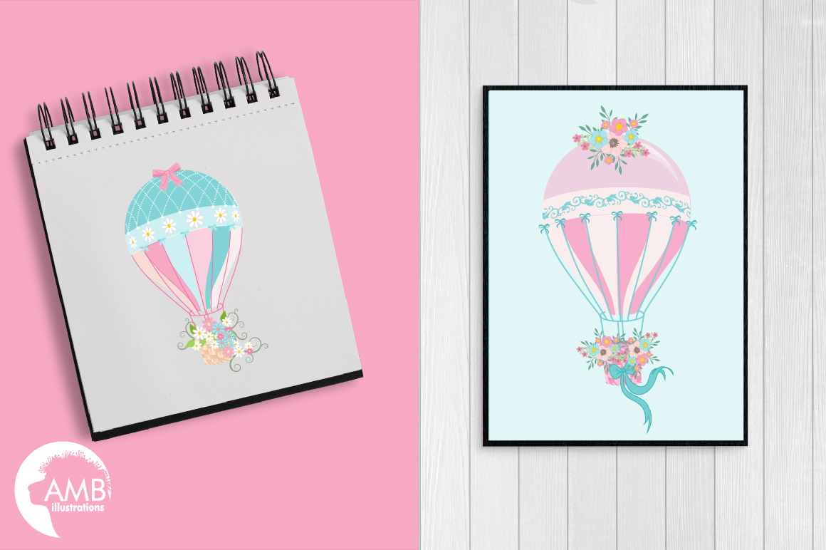 Hot Air Balloons, graphic, illustration, clipart AMB-1388  example image 4
