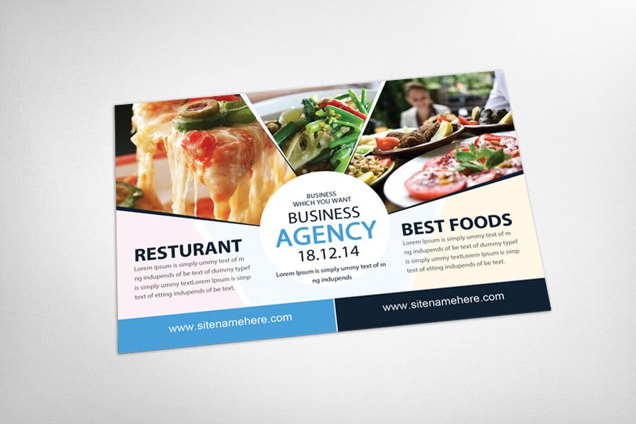 Food & Pizza Restaurant Postcard example image 3