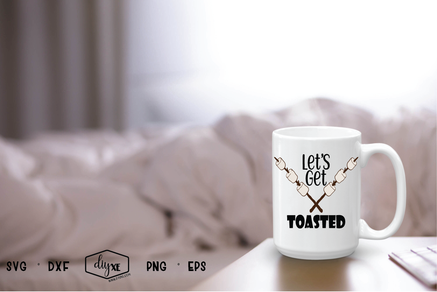 Let's Get Toasted - A Camping SVG Cut File example image 2
