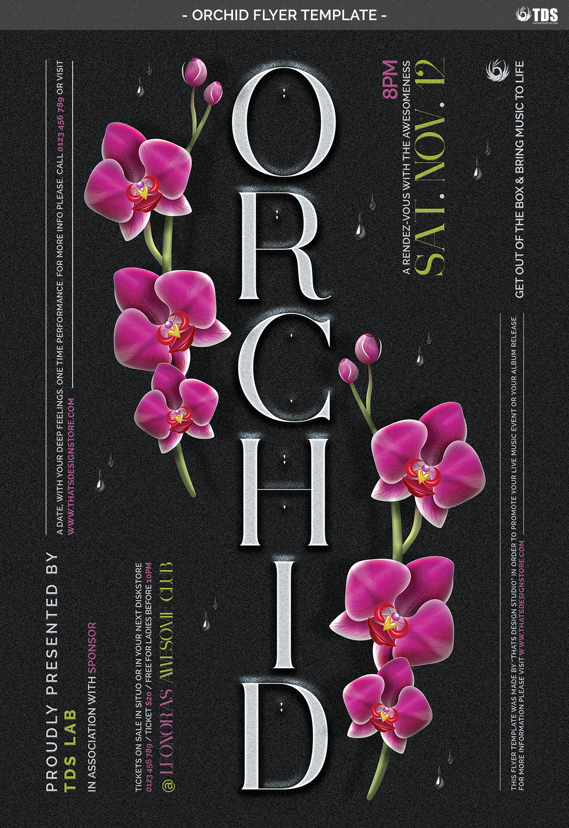 Orchid Flyer Template example image 5