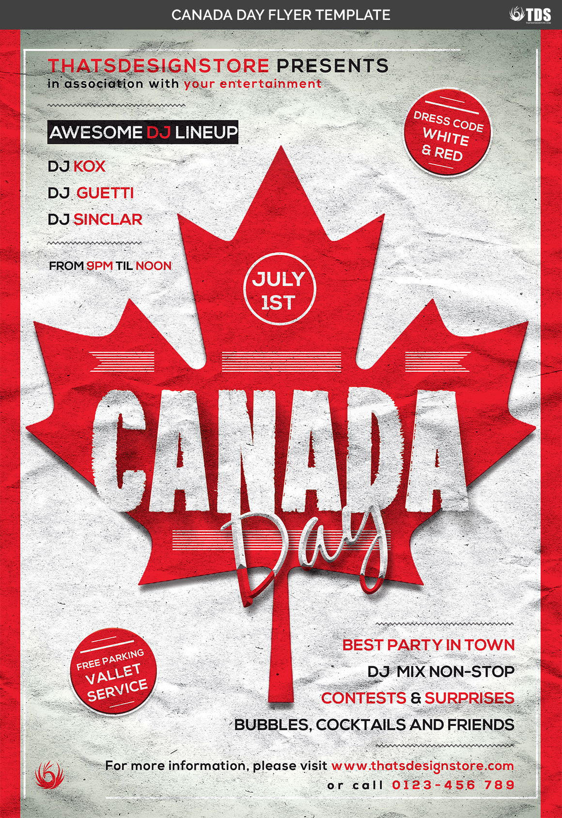 Canada Day Flyer Template example image 4