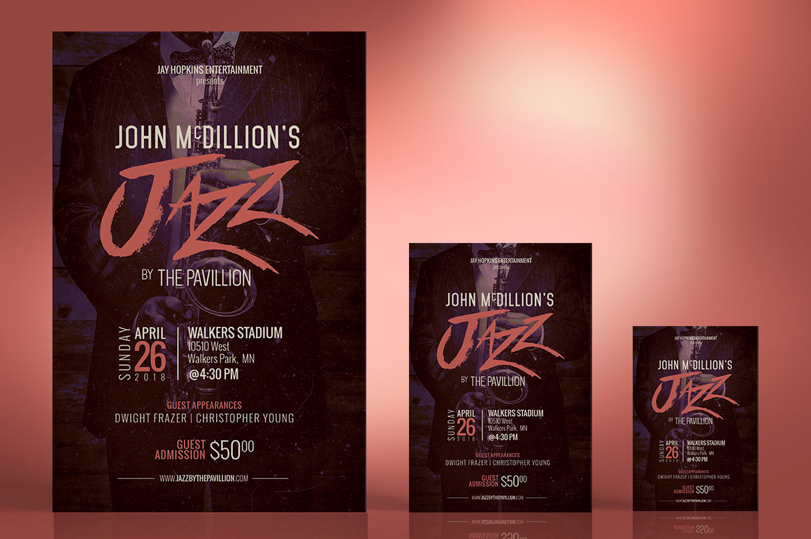 Jazz Concert Flyer Poster Template example image 4