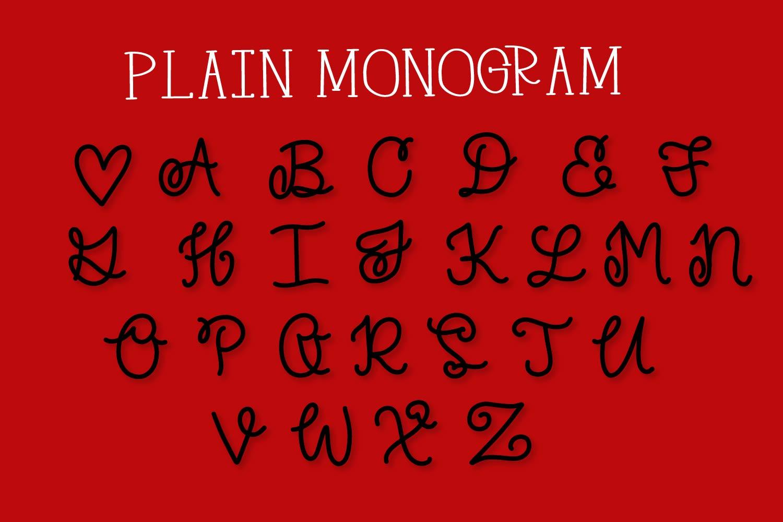 Split Monogram Font Trio - 3 Versions of Monograms! example image 9