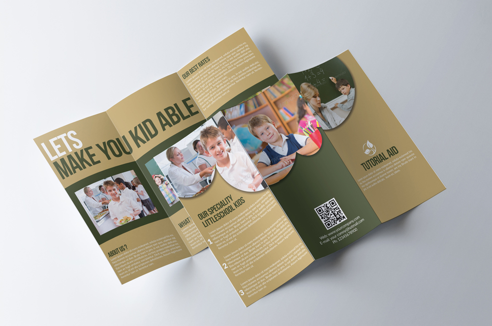 Kids Education Flyer Trifold Brochure example image 3