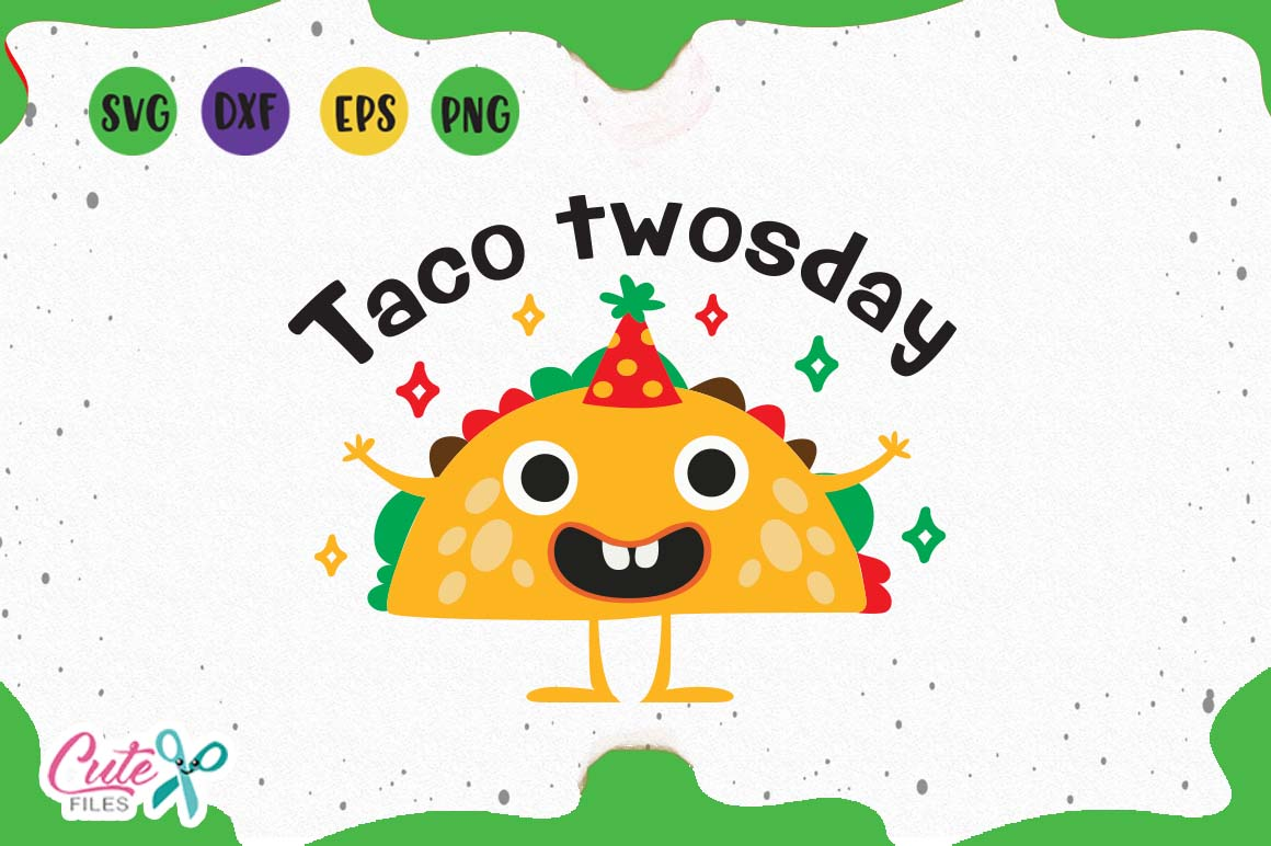Taco twosday svg, Cinco de mayo, svg mexican saying for craf example image 1