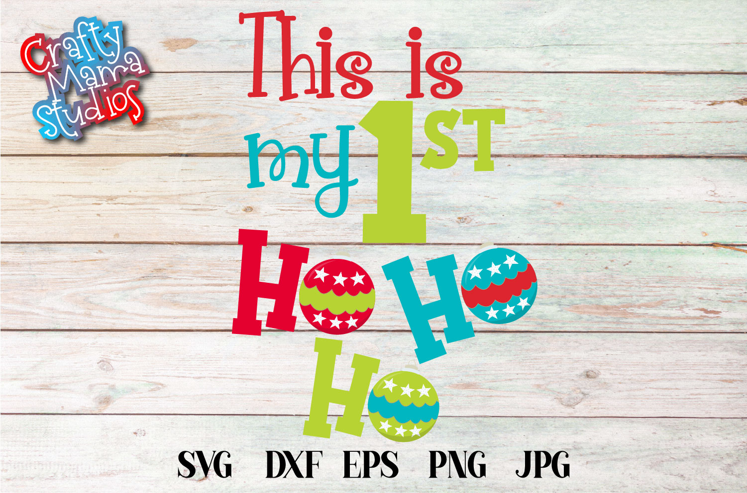 Christmas SVG, This Is My First Ho Ho Ho Sublimation example image 2