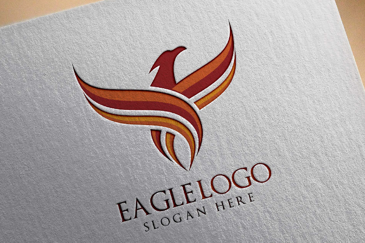Eagle Fly Logo Template example image 3