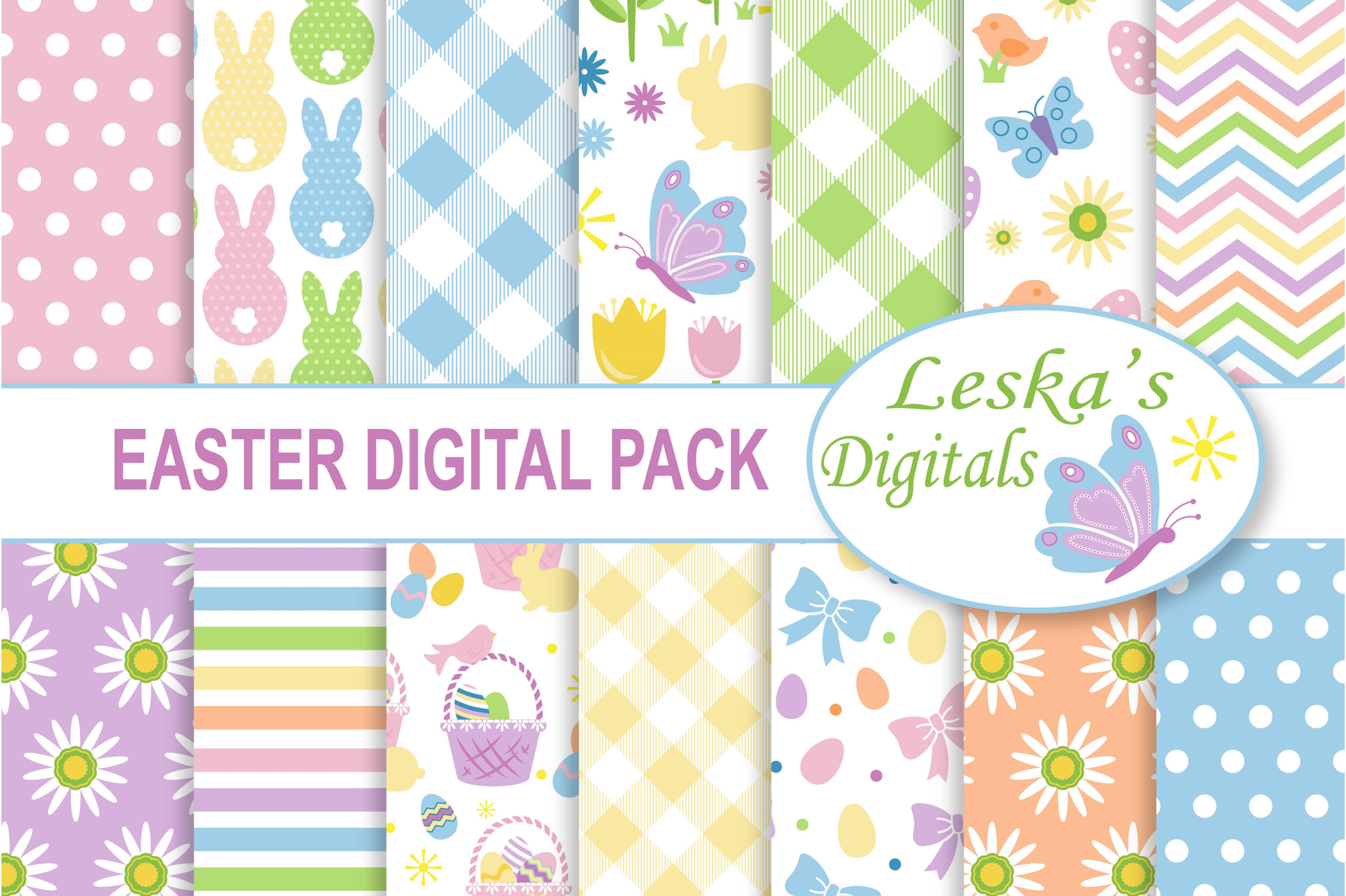 Easter Digital Paper example image 1