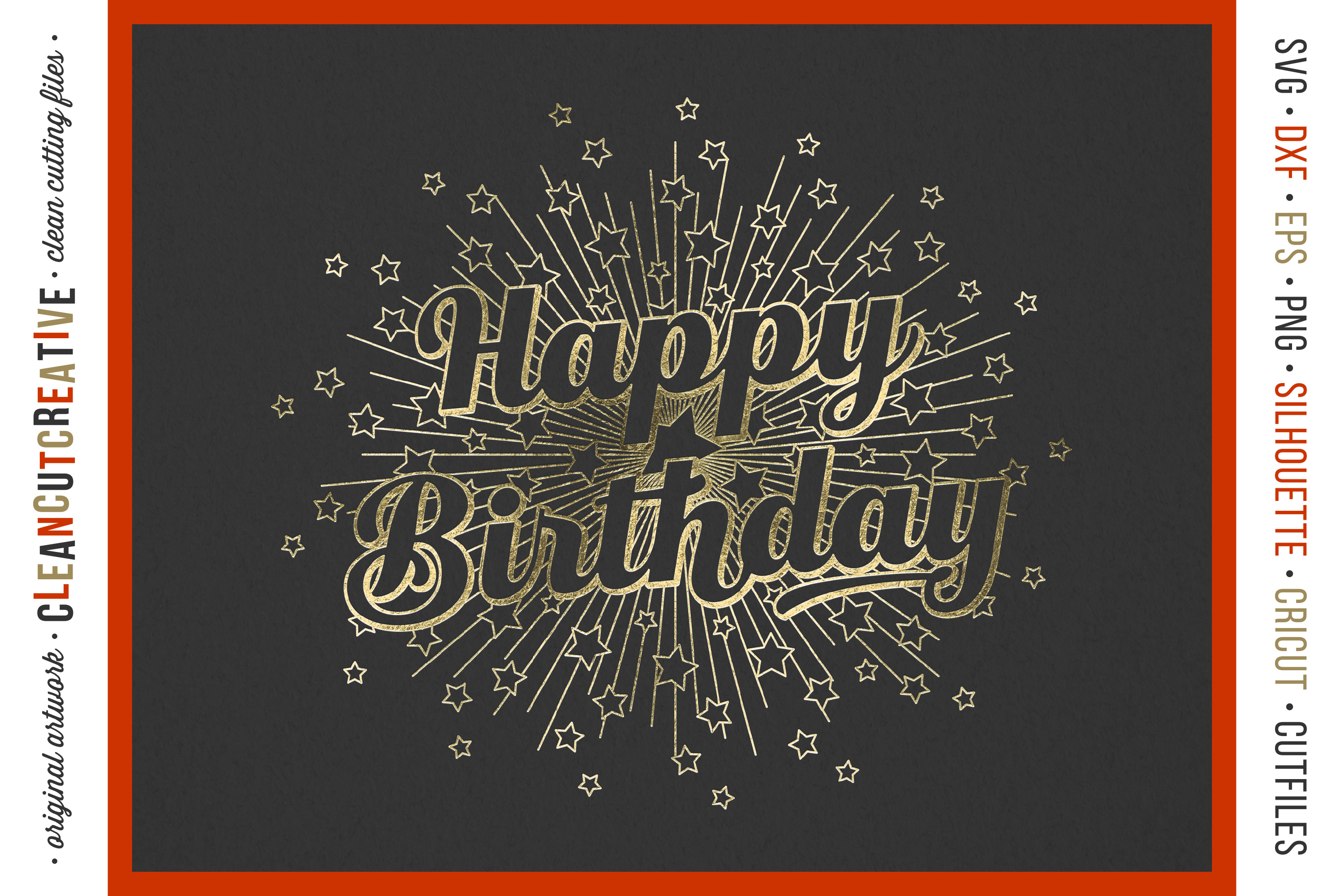 Foil Quill HAPPY BIRTHDAY single line sketch design SVG example image 2