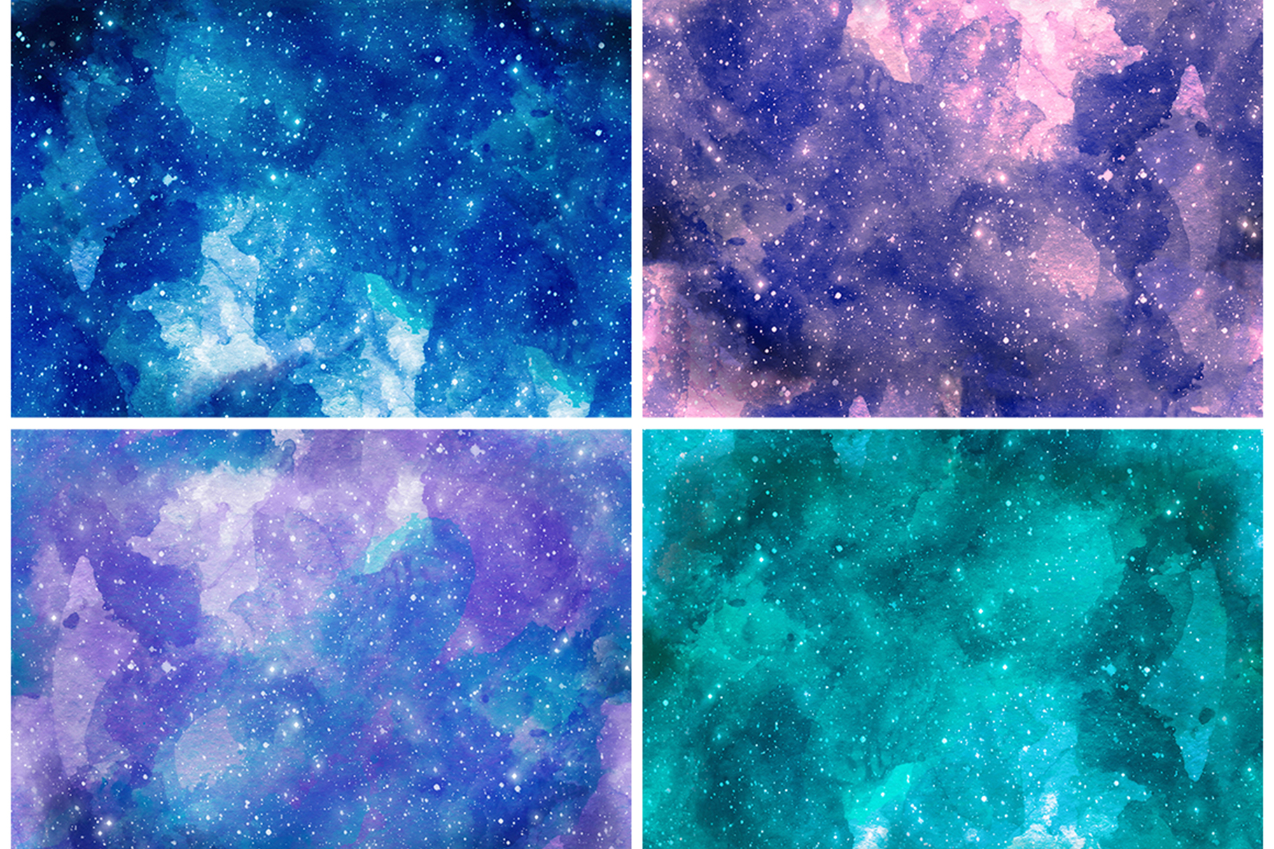 Watercolor Space Seamless Textures example image 9