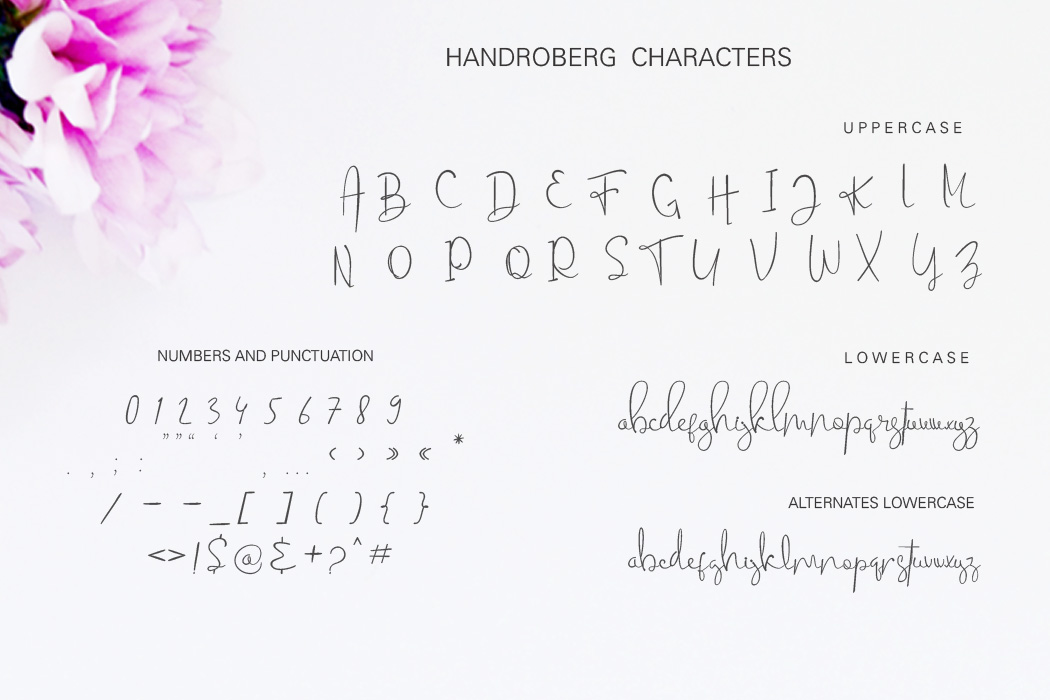 Handroberg Font example image 10