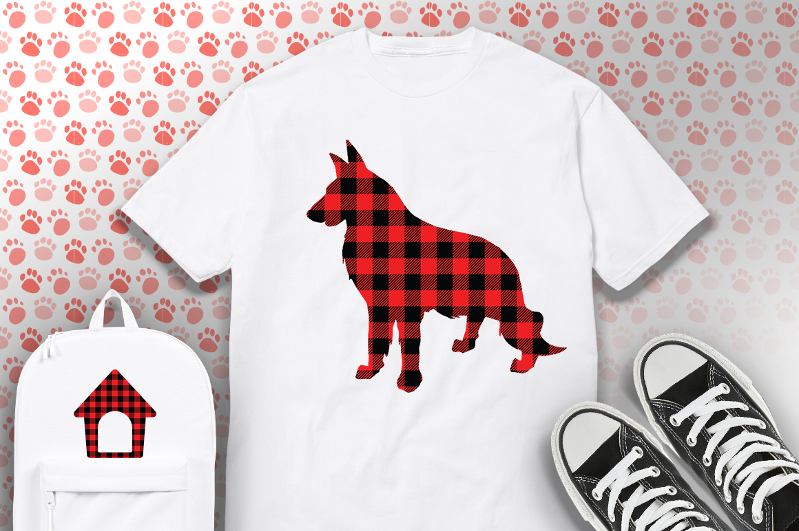 22 Dog Buffalo Plaid SVG Bundle example image 2