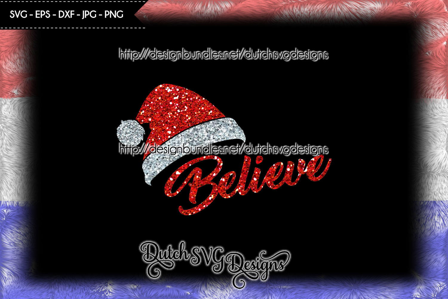Cut file Believe with Santa hat, christmas svg, believe svg example image 4