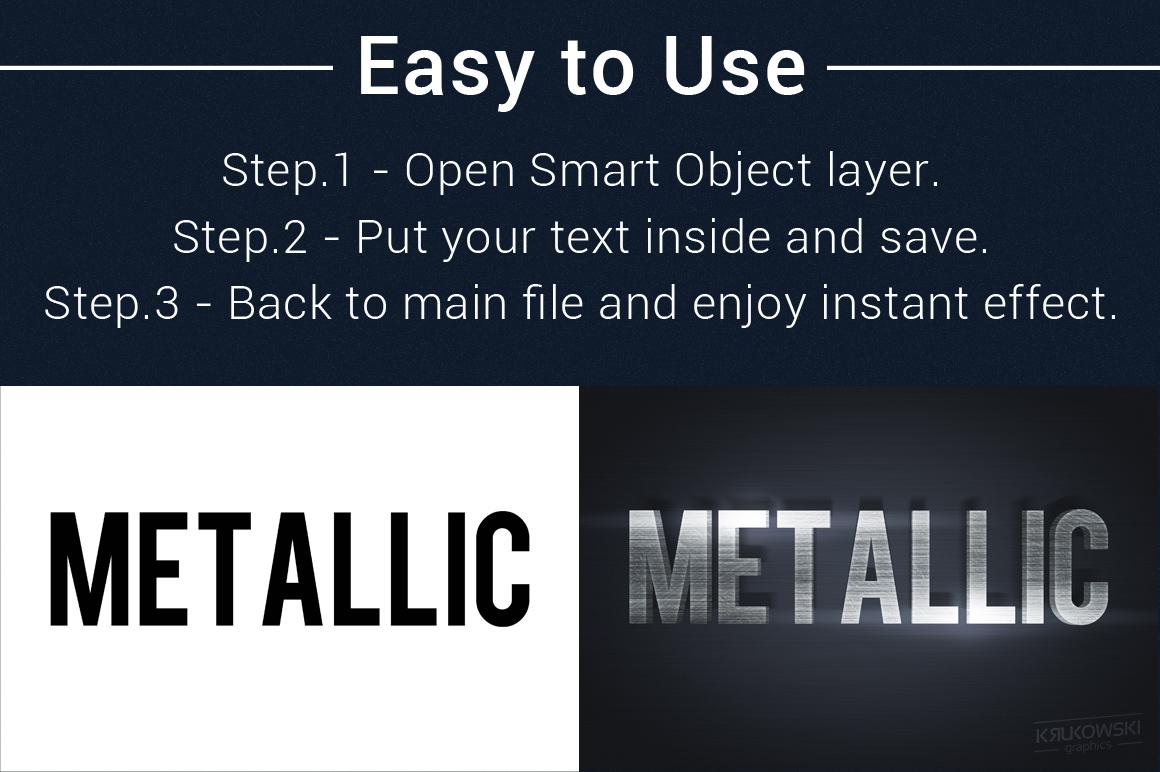 Metallic Text Effects Mockup example image 5